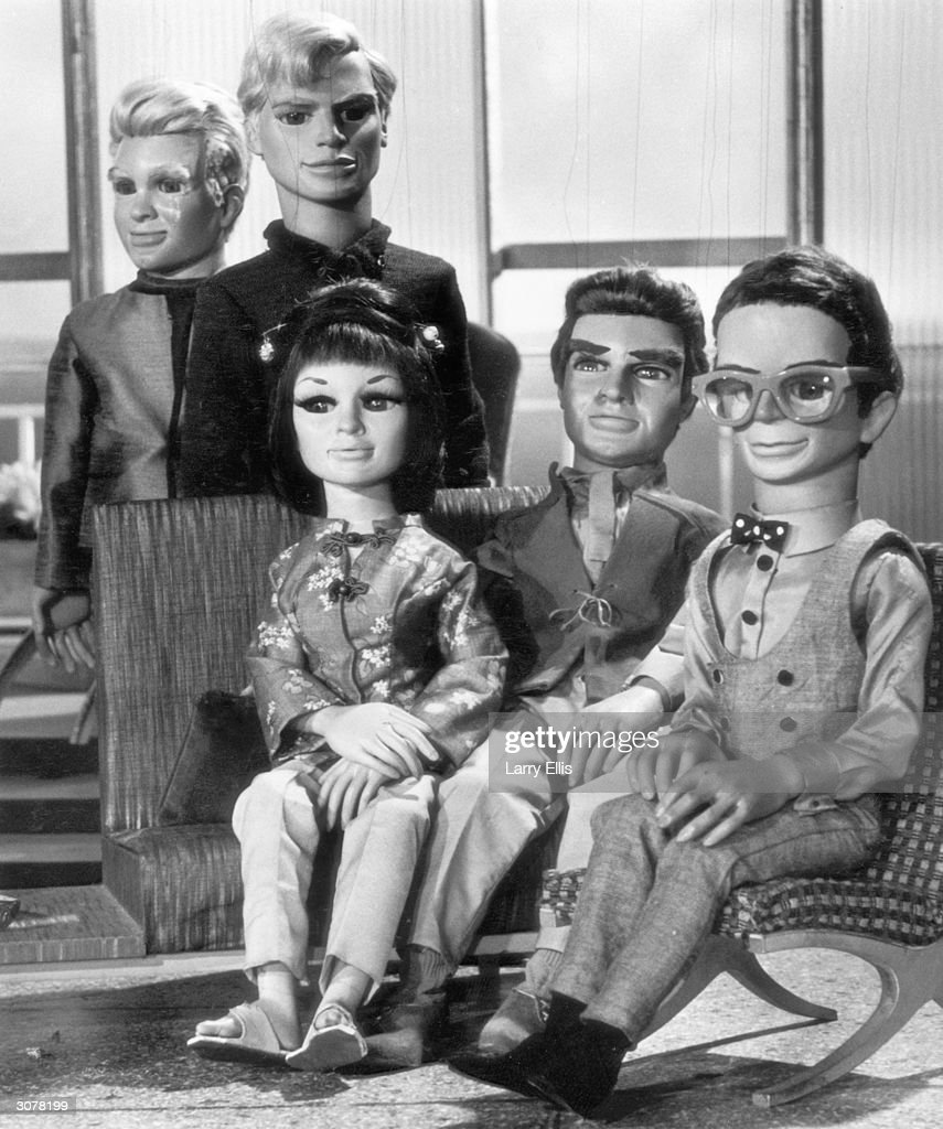 The puppet cast of the British children's television programme 'Thunderbirds', 1st September 1965.