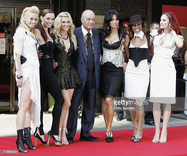 The Pussy Cat Dolls Kimberly Wyatt Jessica Sutta Ashley Roberts Nicole Scherzinger Melody Thorton and Carmit Bachar pose for a photograph with...
