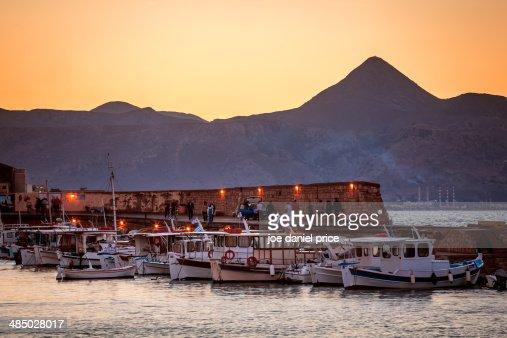 The Pyramid Mountain at Heraklion, Crete, Greece