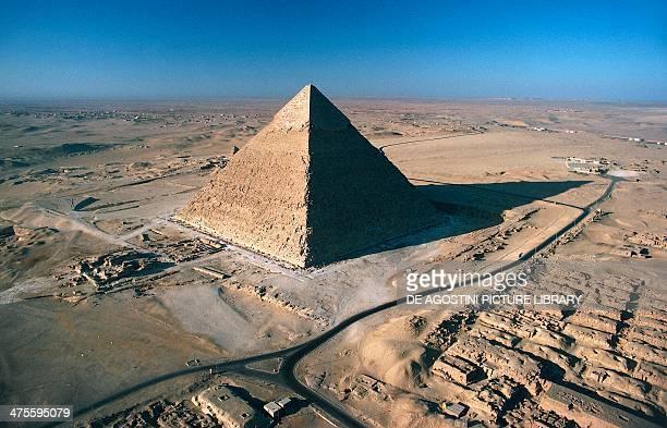 The Pyramid of Khafre Giza Necropolis Egypt Egyptian civilisation Old Kingdom Dynasty IV