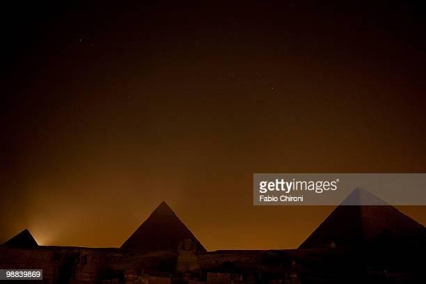 The Pyramids at night