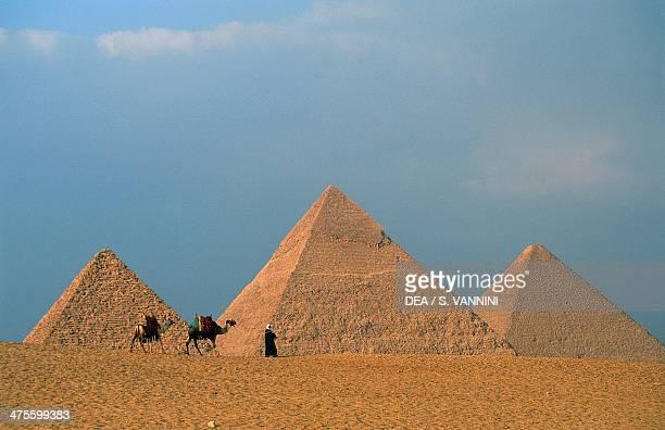 The Pyramids of Menkaure Khafre and Khufu Giza Necropolis Egyptian Civilisation Old Kingdom 4th Dynasty