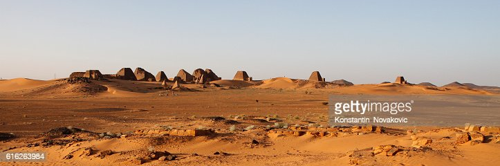 The pyramids of Meroe, Sudan : Stock Photo