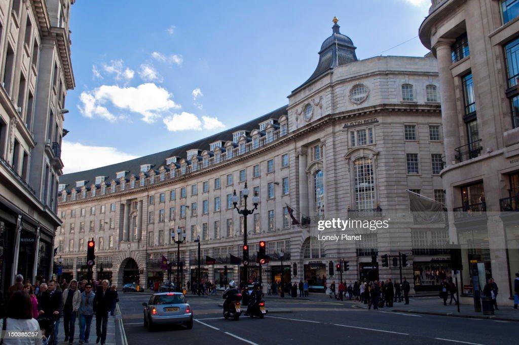 The Quadrant on Regent Street, West End.