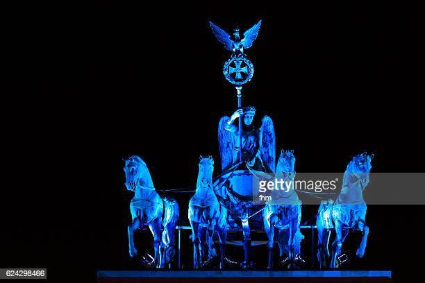 The Quadriga statue on the famous Brandenburg Gate (Berlin, Germany)