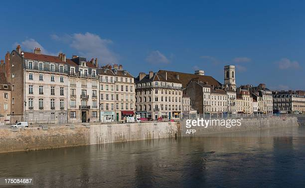 The Quai Vauban and the Doubs river are pictured on February 20 2013 in Besancon eastern France AFP PHOTO / PATRICE COPPEE