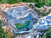 Quarry seen from above