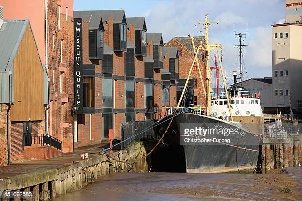 The quayside and old shipping warehouses next to the River Hull are seen after the city was announced as the 2017 UK City of Culture on November 21...