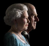 The queen and hrh the duke of edinburgh at buckingham palace on 26th picture id77413388?s=170x170