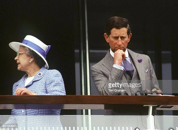 The Queen And Prince Charles At The Derby Races