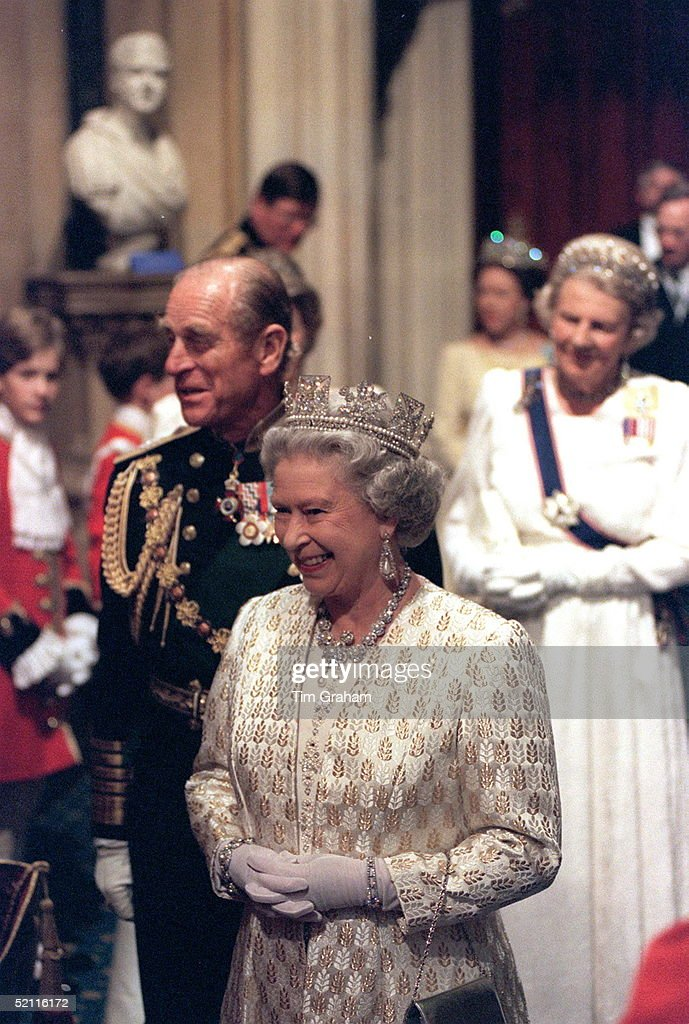 The Queen And Prince Philip At The State Opening Of Parliament