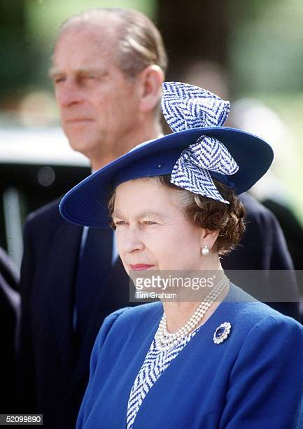 The Queen And Prince Philip In Madrid Spain At The Arrival Ceremony At The Pardo Palace She Is Wearing A Hat By Fashion Designers Milliners Philip...