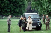 The Queen And Princess Sophie Of Hanover At The Royal Windsor Horse Showthe Queens Party Using Her Land Rover Defender Four Wheel Drive Car