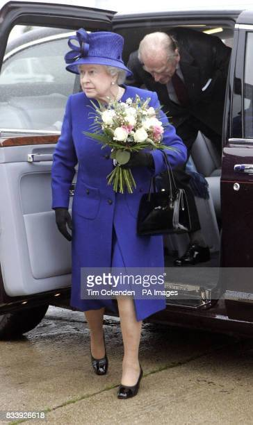The Queen and the Duke at Heathrow Airport to leave for Malta on their diamond wedding anniversary