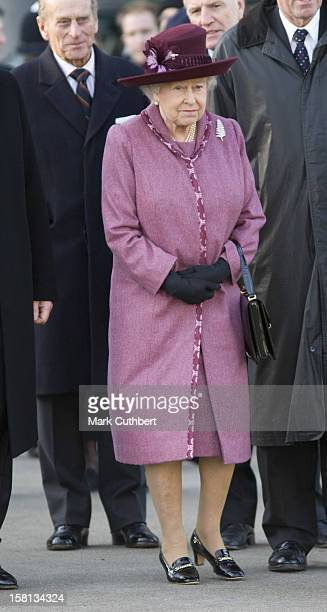 The Queen And The Duke Of Edinburgh Visit The New Zealand 'Giant Rugby Ball' At Tower Bridge London Her Majesty And His Royal Highness Were Greeted...