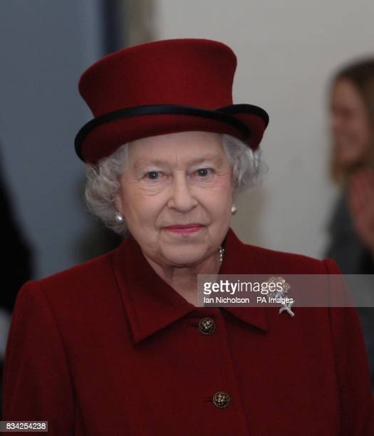 The Queen arrives for a visit to the east London sugar refinery Tate Lyle which is celebrating 130 years of production