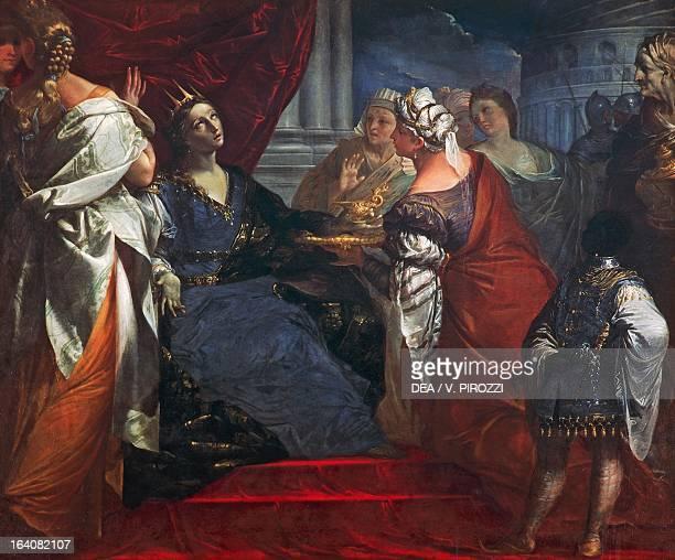 The queen Artemisia drinking the Ashes of Mausolus by Giovan Gioseffo del Sole oil on canvas 157x190 cm Rome Galleria Nazionale D'Arte Antica Di...