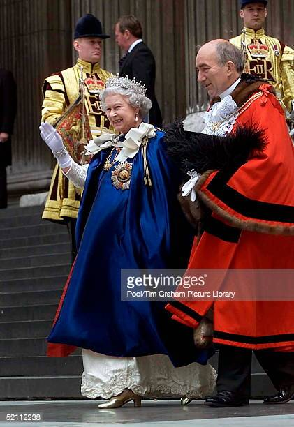 The Queen As Sovereign Of The Order Attending The Service Of The Order Of St Michael And St George At St Paul's Cathedral In London