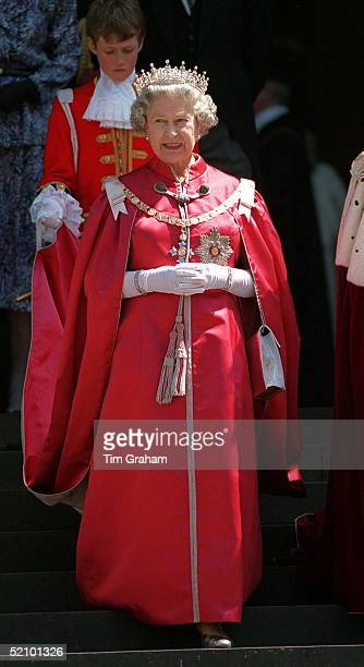 The Queen At A Service Of The Order Of The British Empire At St Paul's Cathedral London
