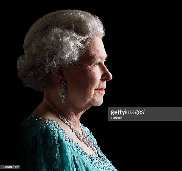 HM The Queen at Buckingham Palace on 26th November 2001 Part of a series of photographs taken to commemorate the Golden Jubilee in 2002