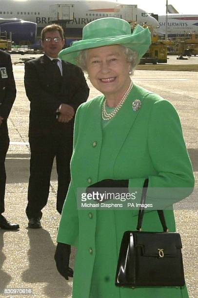 The Queen at Heathrow prior to leaving for Canada The Queen is travelling to the Arctic to celebrate her Golden Jubilee with the Inuit people of a...
