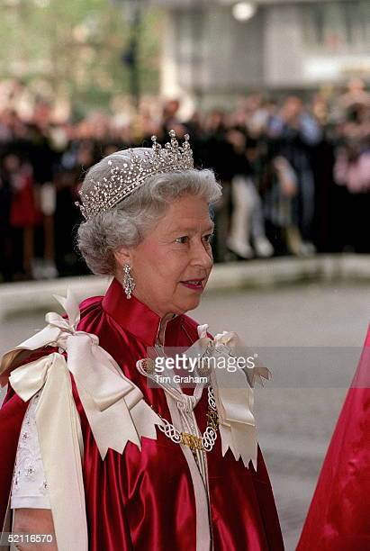 The Queen At The Order Of The Bath Ceremony At Westminster Abbey London