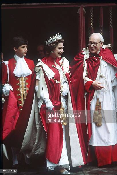 The Queen At Westminster Abbey For The Order Of The Bath Ceremony