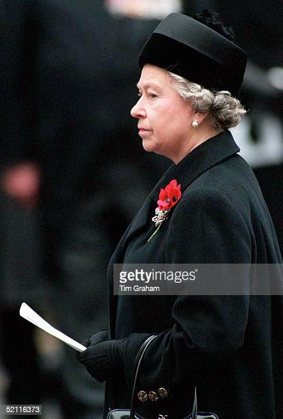The Queen Attending Remembrance Day Service At The Cenotaph In Whitehall London