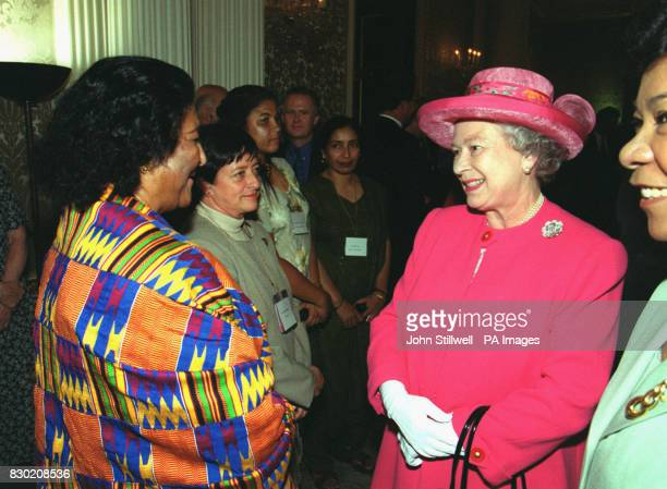 The Queen attends a reception given by the Royal College of Nursing to mark the centennial meeting of the International Council of Nurses and the...