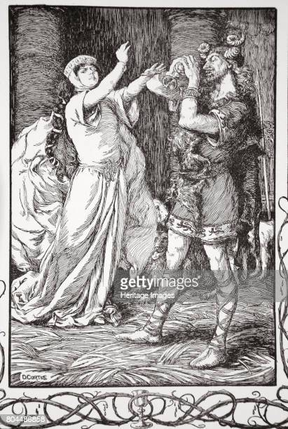 The Queen cried to him to forbear' 1905 The Queen tries to poison her stepson Tristram when her husband nearly drinks the poison instead An...