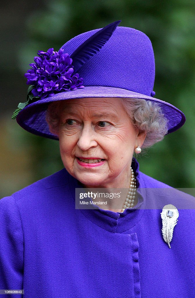HM The Queen <a gi-track='captionPersonalityLinkClicked' href=/galleries/search?phrase=Elizabeth+II&family=editorial&specificpeople=67226 ng-click='$event.stopPropagation()'>Elizabeth II</a> at the wedding of Lady Tamara, the eldest daughter of The Duke and Duchess of Westminster, and Edward van Cutsem at Chester Cathedral on Saturday November 6, 2004