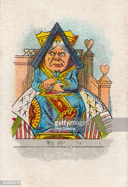 'The Queen in Court' 1930 The Queen of Hearts in court From Lewis Carroll's 'Alice in Wonderland' After an illustration by John Tenniel colour...