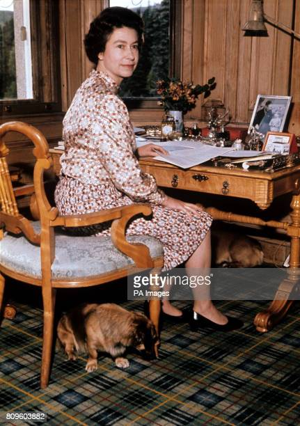 The Queen in her study at Balmoral