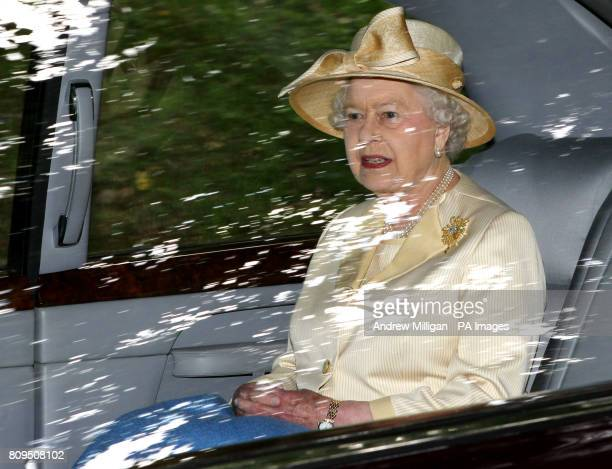 The Queen is driven to Crathie Kirk near Balmoral for a Sunday church service