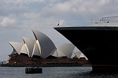 The Queen Mary 2 docks at the Overseas Passenger Terminal at Circular Quay on March 12 2015 in Sydney Australia Cunard's flagship Queen Mary 2 and...