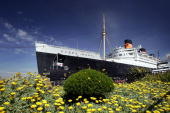 The Queen Mary a historic ocean liner that was docked and turned into a tourist attraction 37 years ago is seen where it still serves as a hotel and...