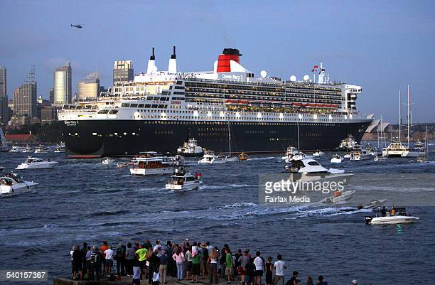 The Queen Mary II on her maiden voyage to Sydney as part of the 2007 world tour 22 February 2007 AFR Picture by JIM RICE