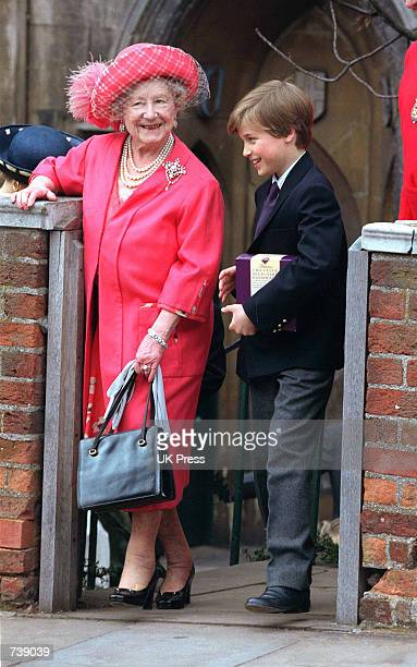 The Queen Mother and Prince William attend Easter church service at Windsor Castle in 1992 Buckingham Palace announced March 30 2002 that the Queen...