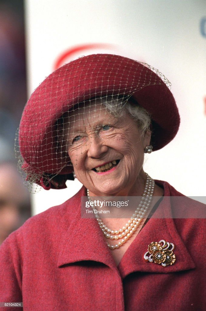 The Queen Mother At Cheltenham For The Grand Military Gold Cup.