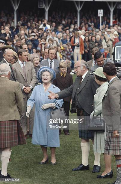 The Queen Mother attending the Braemar Games in Scotland Great Britain 2 September 1978 Camilla ParkerBowles and her husband Andrew ParkerBowles are...