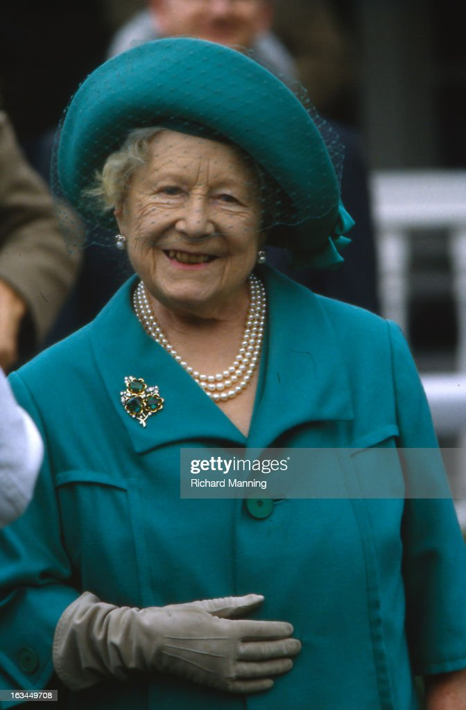 The Queen Mother attends the Grand Military Gold Cup. Held annually at Sandown Park Racecourse in Esher, Surrey it is a meeting point for the Military, in particularly for Cavalry Officers, with its origins in the days when mounted Cavalry Officers still rode to war.