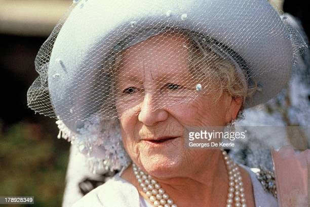 The Queen Mother celebrates her 90th birthday on August 4 1990 in London England