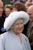 The Queen Mother Smiling Whilst Visiting The Sandringham Flower Show In Norfolk