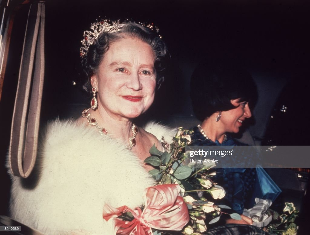 The Queen Mother (1900 - 2002) with Princess Margaret (1930 - 2002).