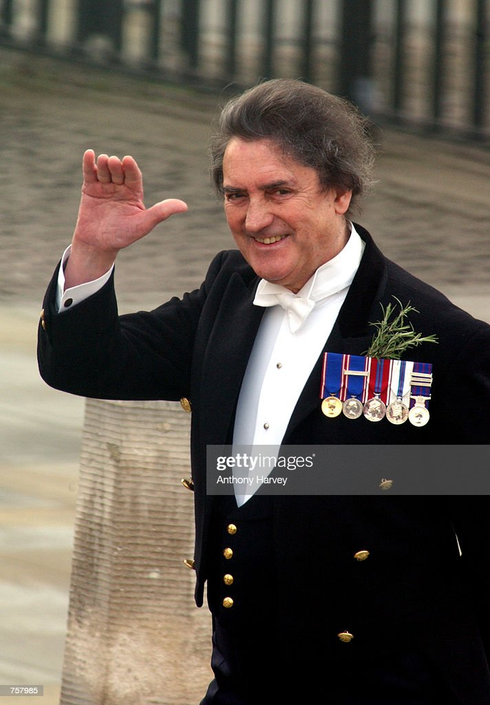 The Queen Mother's butler William (Billy) Tallon arrives at Westminster Abbey for the state funeral of the Queen Mother April 9, 2002 in London.