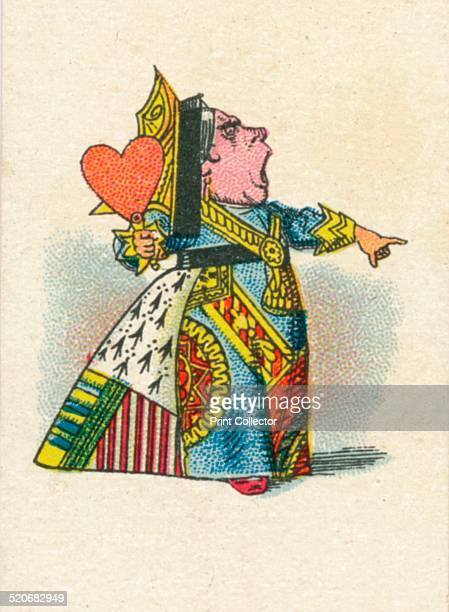 The Queen of Hearts 1930 'The Queen of Hearts' from Lewis Carroll's 'Alice in Wonderland' After an illustration by John Tenniel colour printed by...