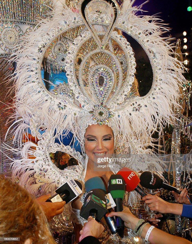 The Queen of Las Palmas Carnival 2013, Giovanna Lee attends the Queen Gala Las Palmas Carnival 2013 on February 1, 2013 in Las Palmas de Gran Canaria, Spain.