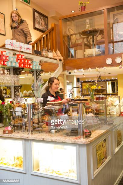 The Queen of Tarts a popular cake cafe in Temple Bar on 3rd April 2017 in Dublin Republic of Ireland Temple Bar is an area on the south bank of the...