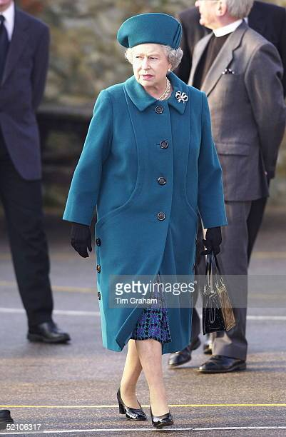 The Queen On A Visit To Flitcham Primary School In Norfolk For Its 125th Anniversary Celebrations