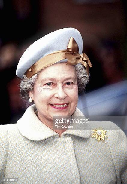 The Queen On A Visit To Newbury Berkshire